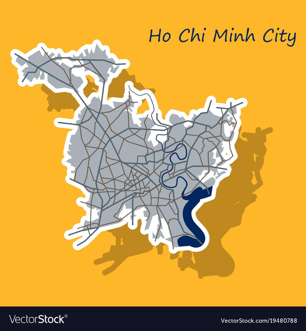 Sticker ho chi minh city administrative map