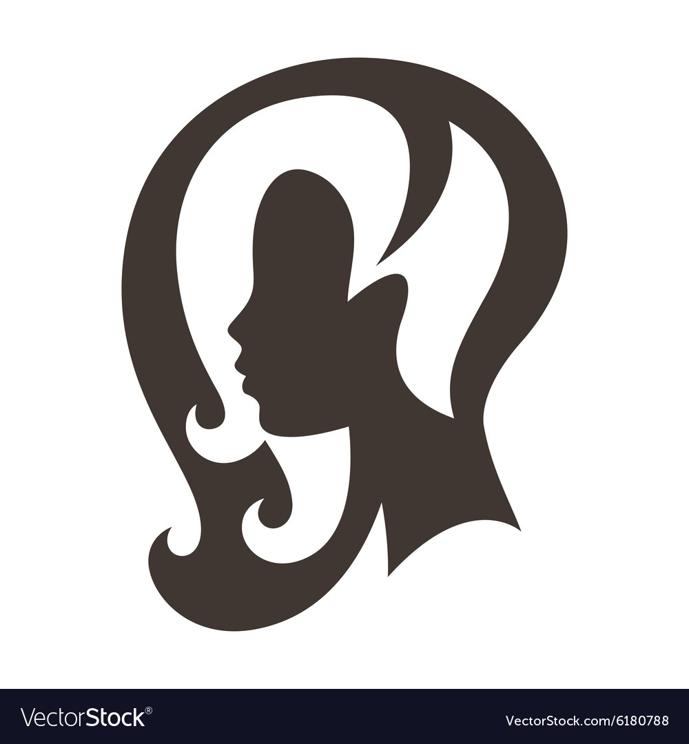 Woman silhouette concept emblem of beauty or