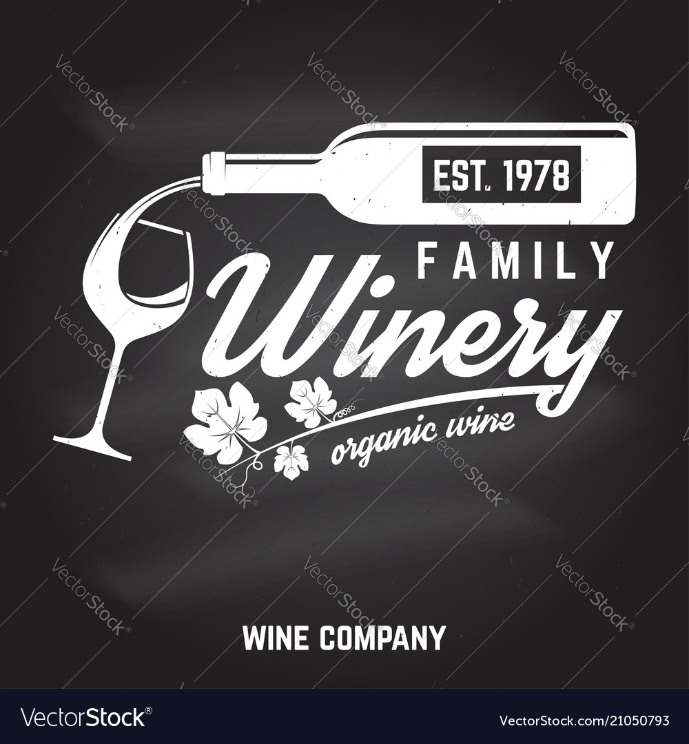 Family winery badge sign or label