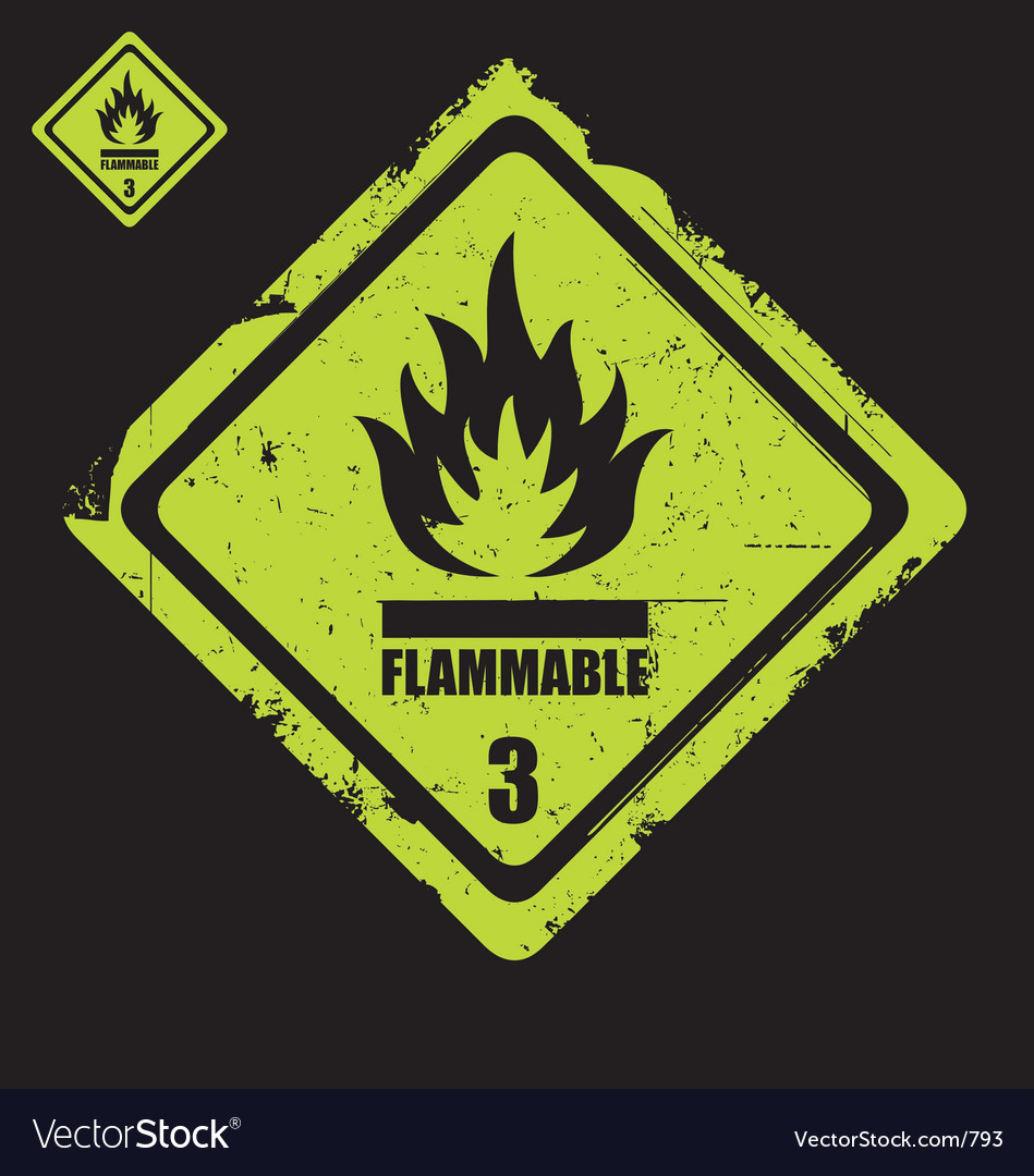 Flammable sign grunge