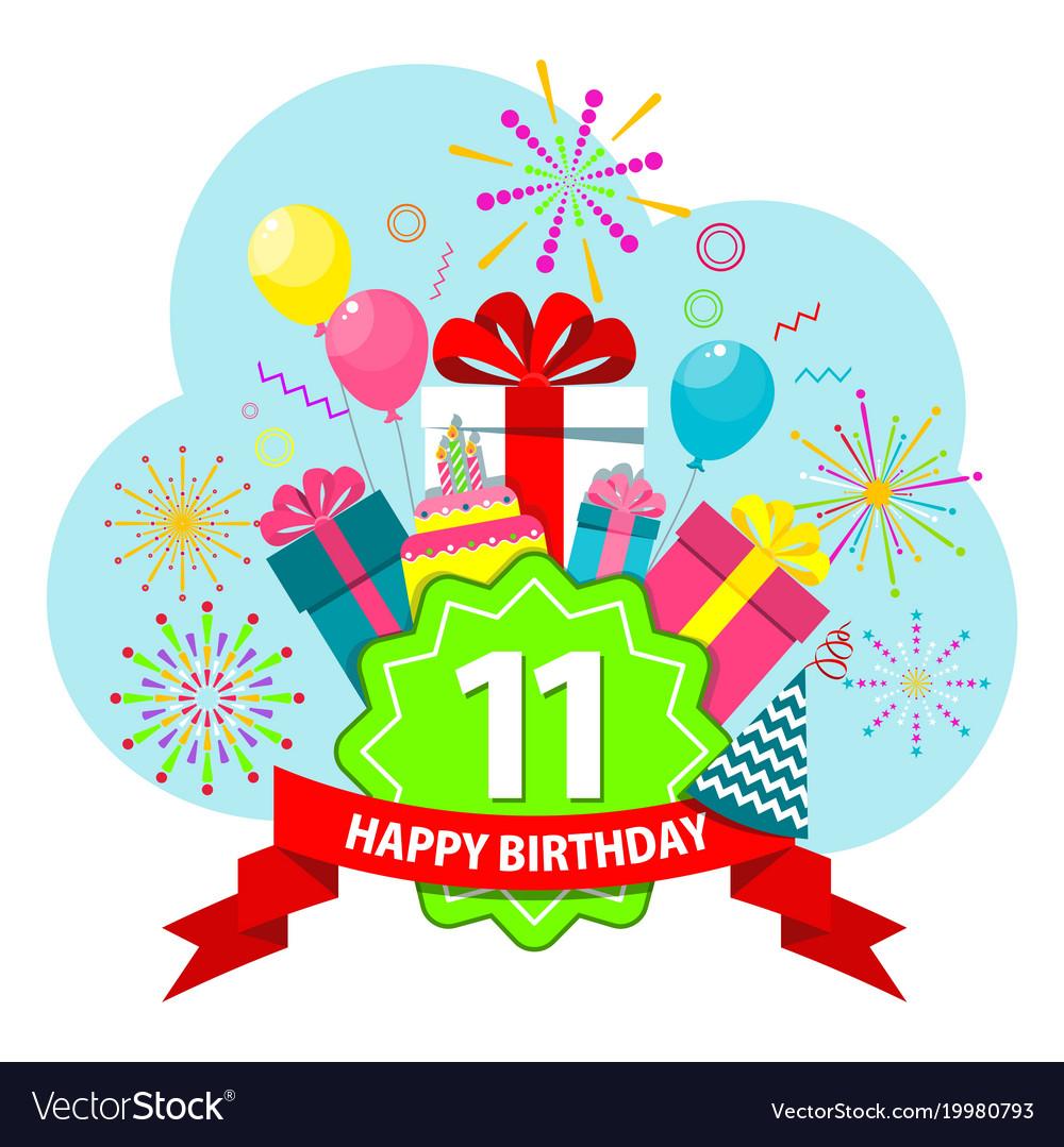 Happy birthday card eleven years