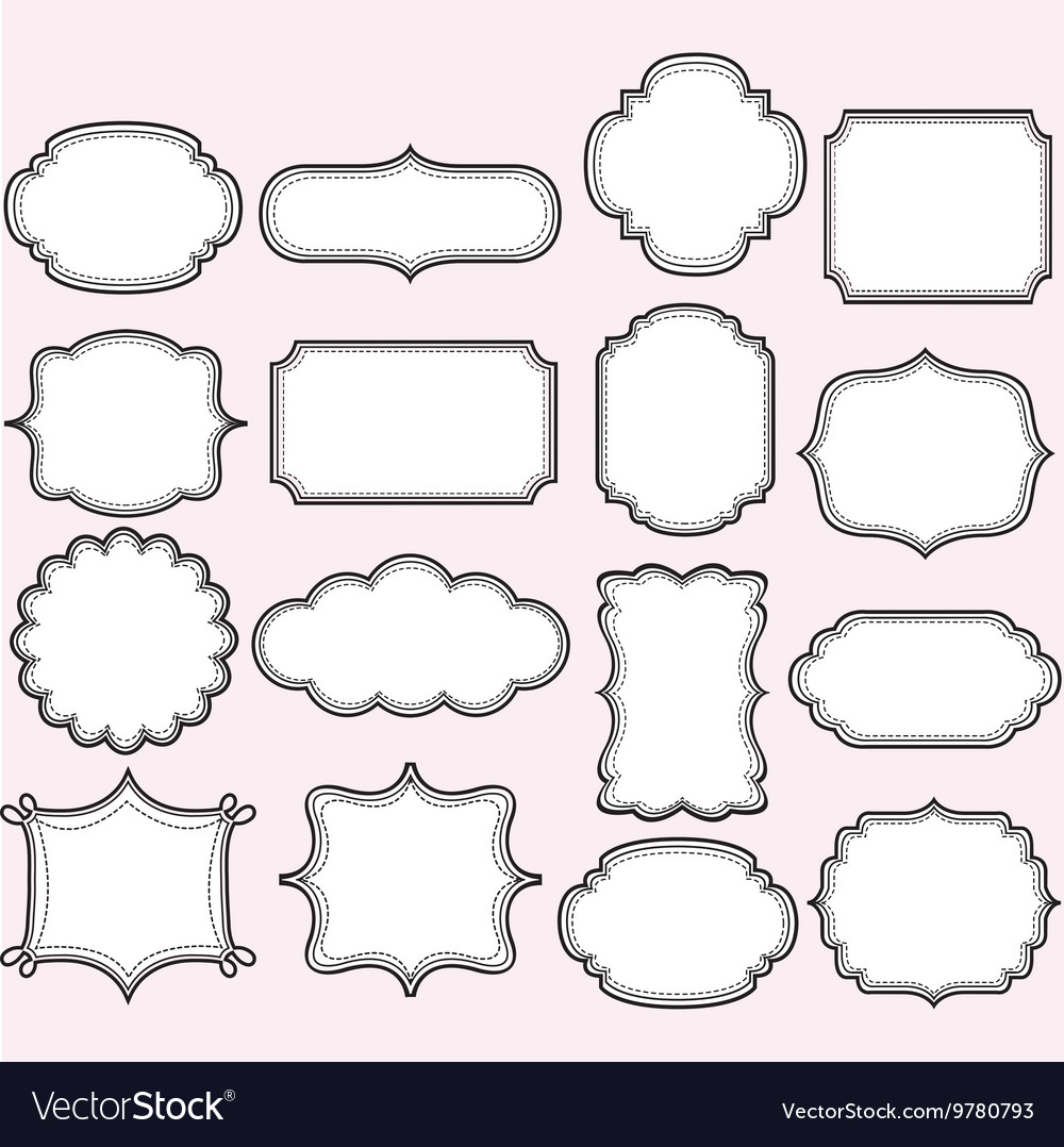 Pink Label Frames Collections vector image