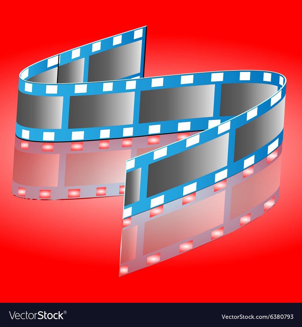 Reel of film vector image