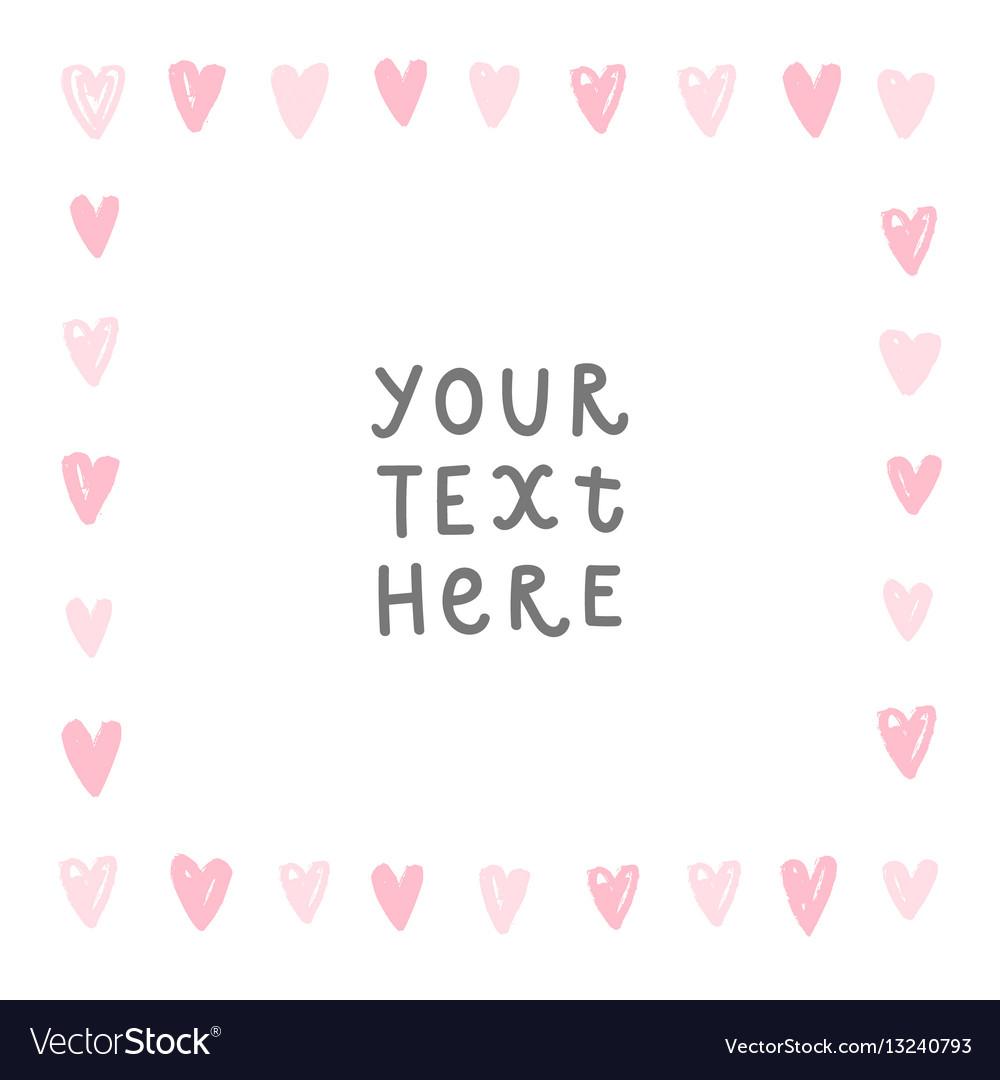 Romantic hearts card