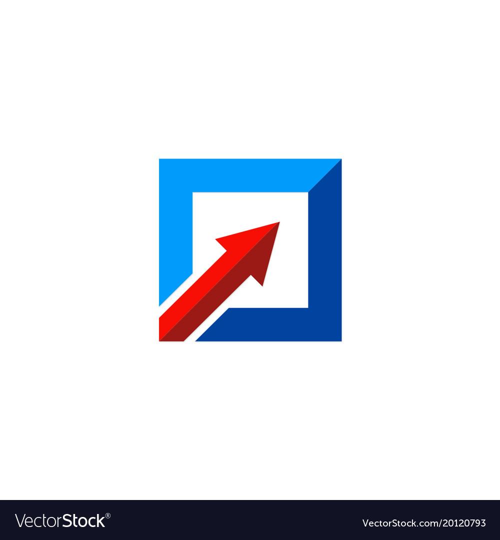 Square arrow up logo
