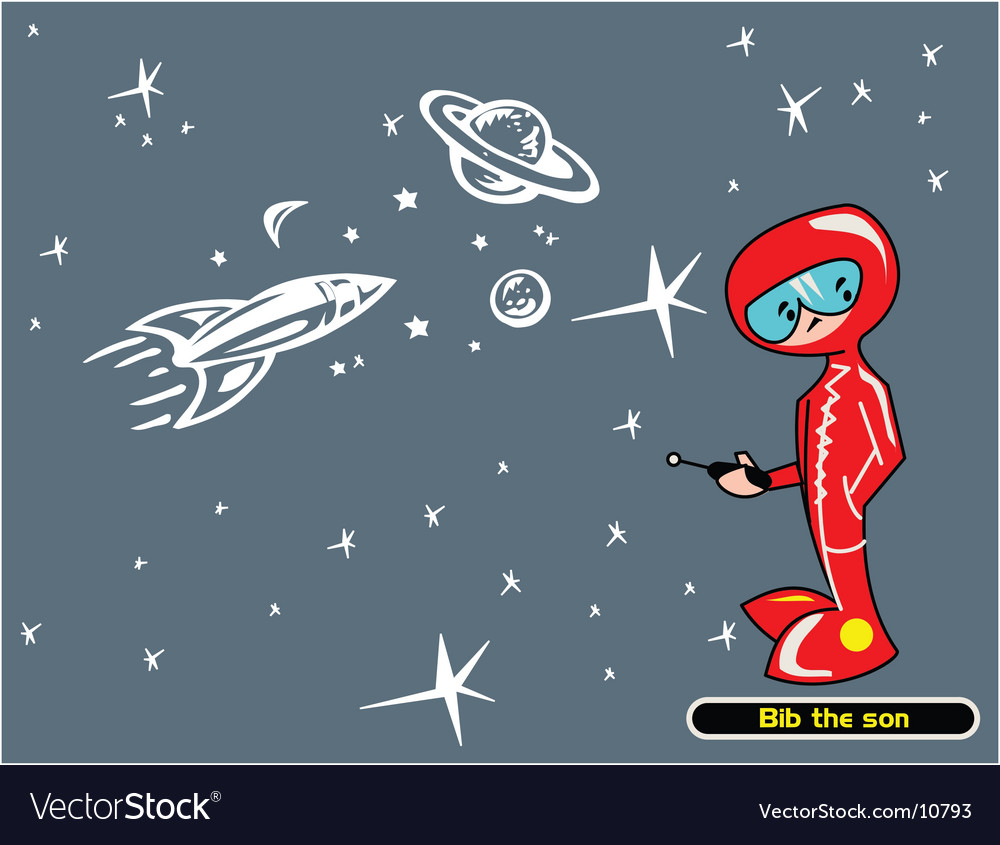 The boy of the space vector image