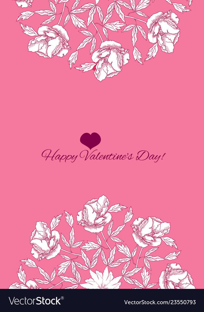 Valentines printable poster flowers