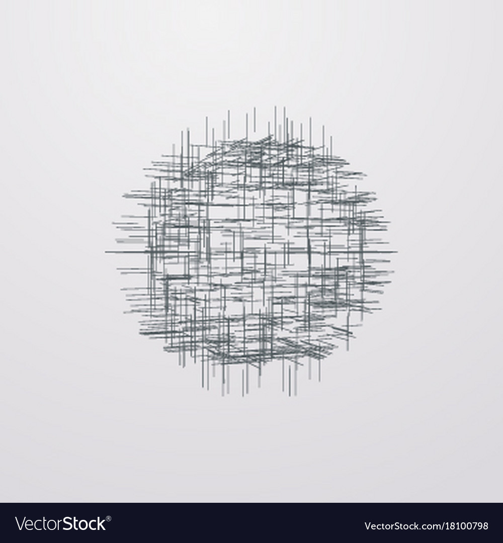 Abstract Lattice 3d Shape With Lines And Levels