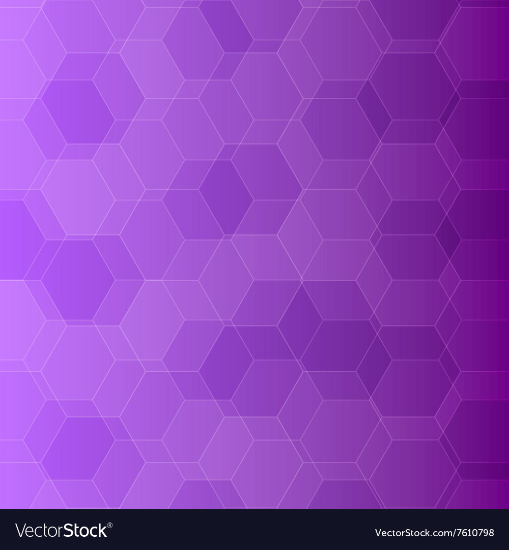 Abstract violet background with hexagons vector image