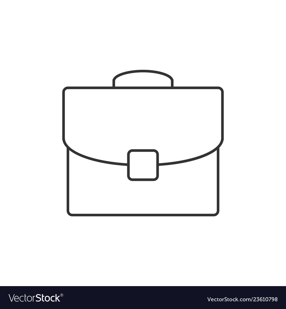 Briefcase outline icon vector
