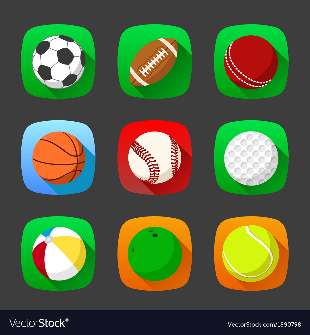 Flat sport icons