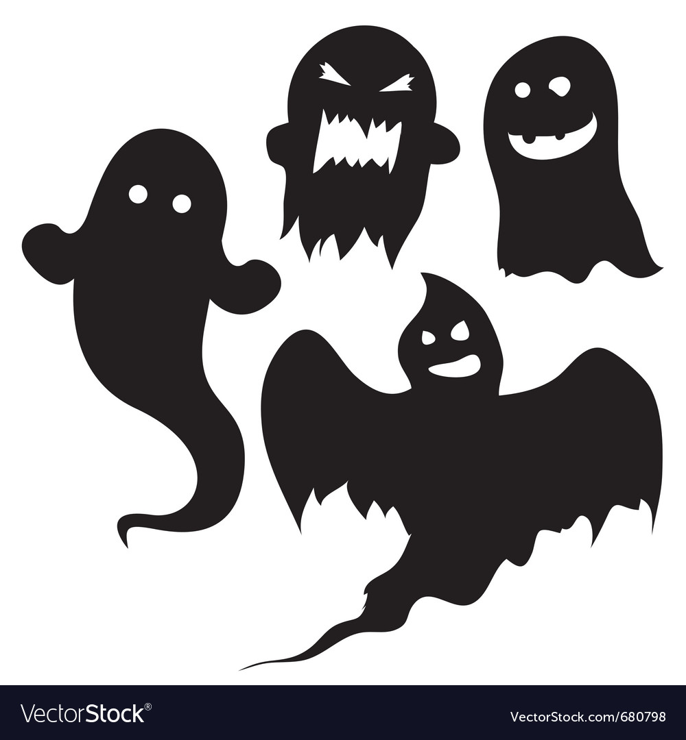 halloween silhouettes royalty free vector image rh vectorstock com Scary Silhouette Halloween Tree Halloween Window Silhouettes Printable