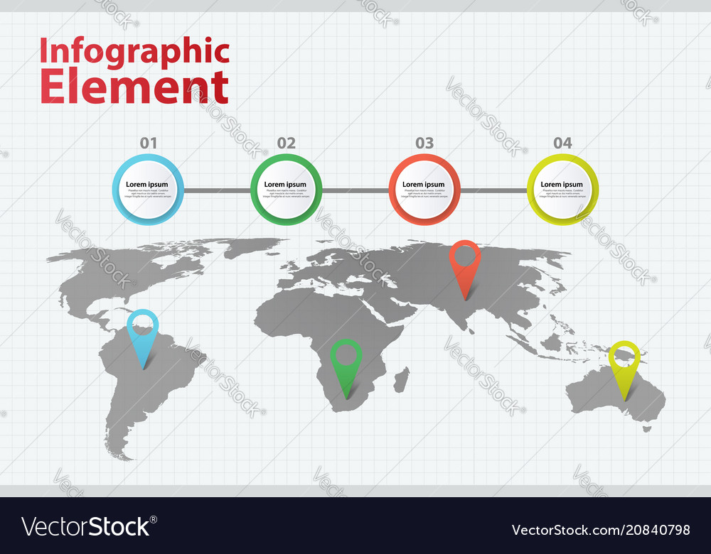 Infographic element world map infographics vector image gumiabroncs Gallery