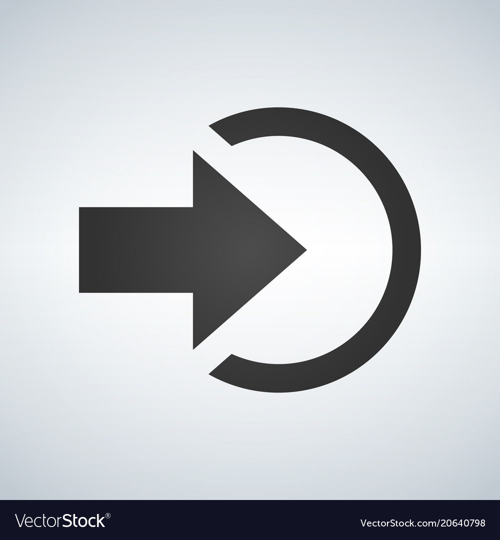 Input or login icon isolated sign symbol and flat