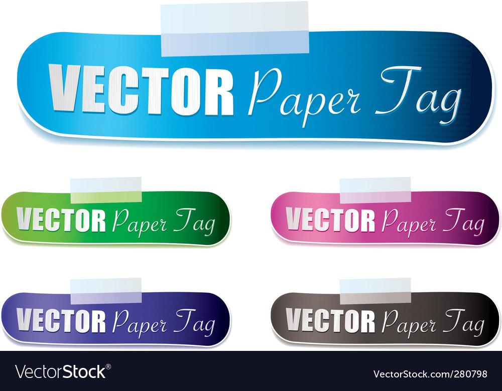 Lozenge tag vector image