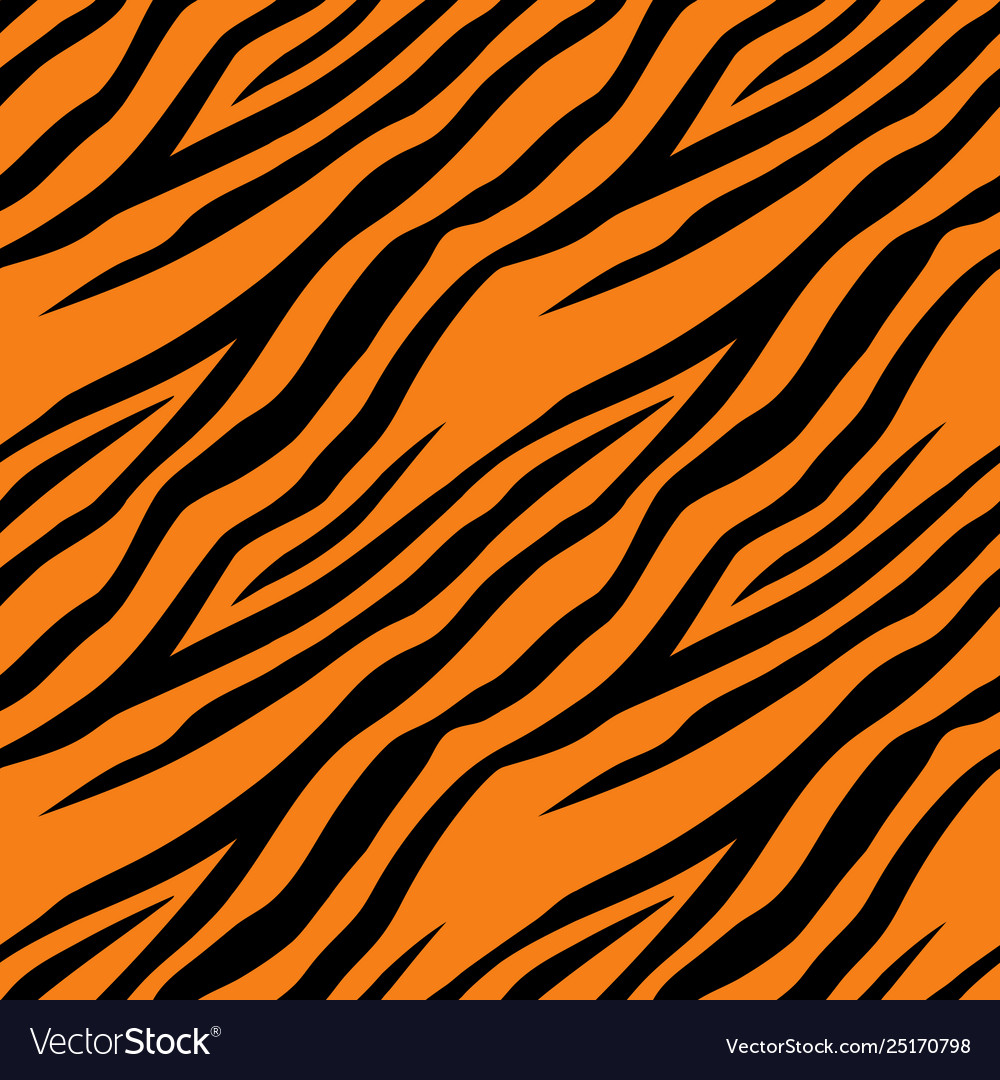 Seamless pattern with tiger stripes design