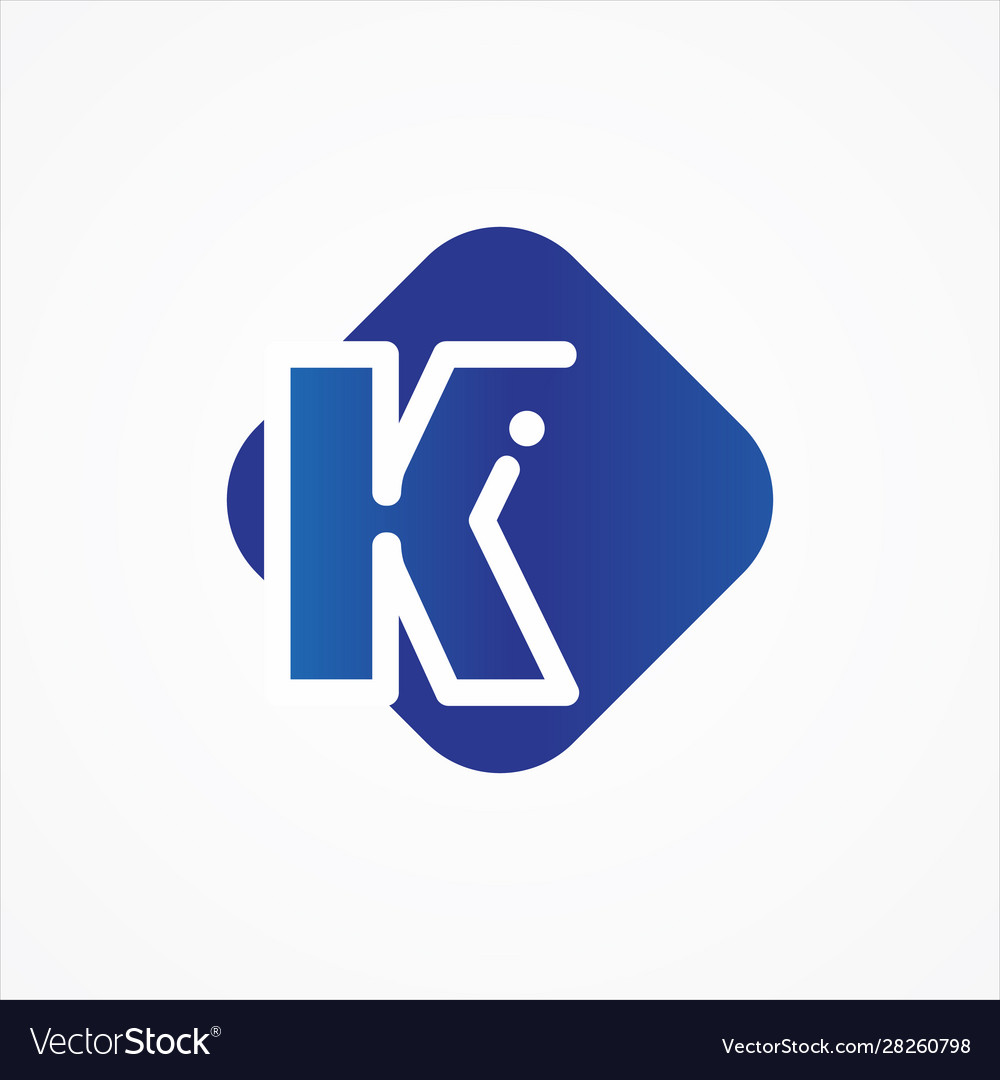 Square symbol letter k design minimalist