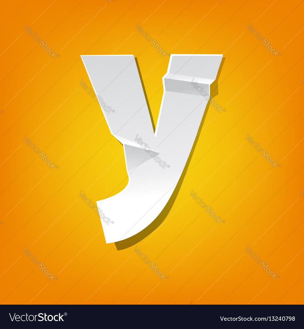 Y lowercase letter fold english alphabet new