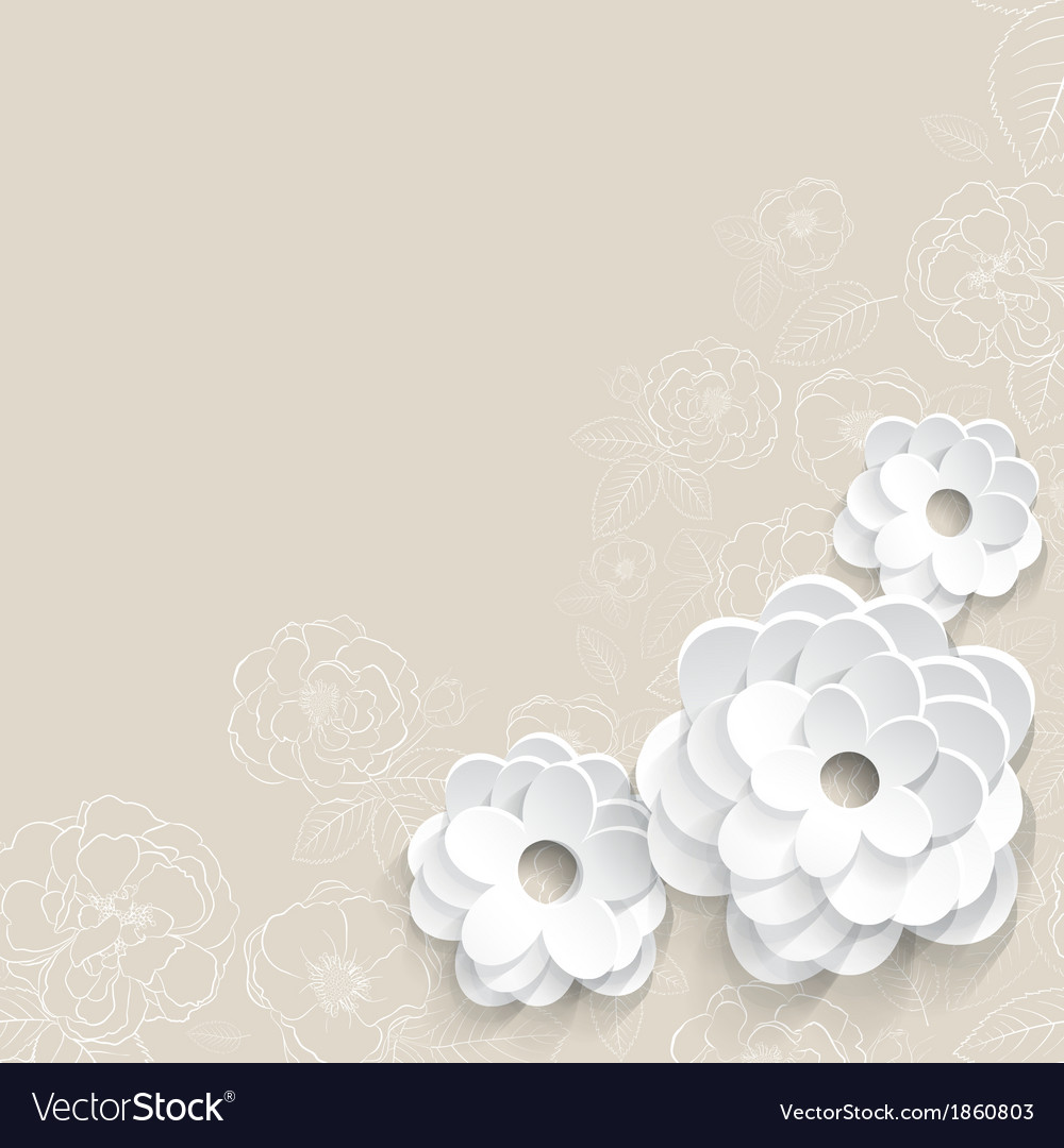 Background with paper flowers royalty free vector image background with paper flowers vector image mightylinksfo