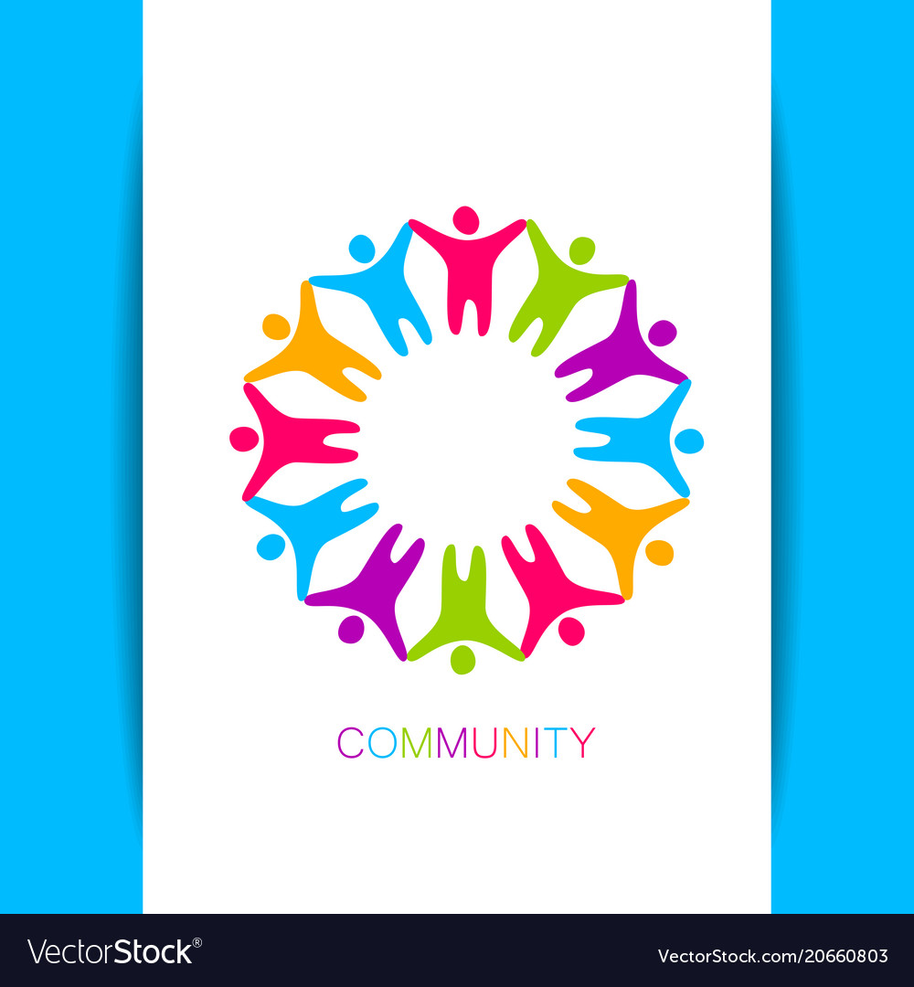 Community logo design template vector image