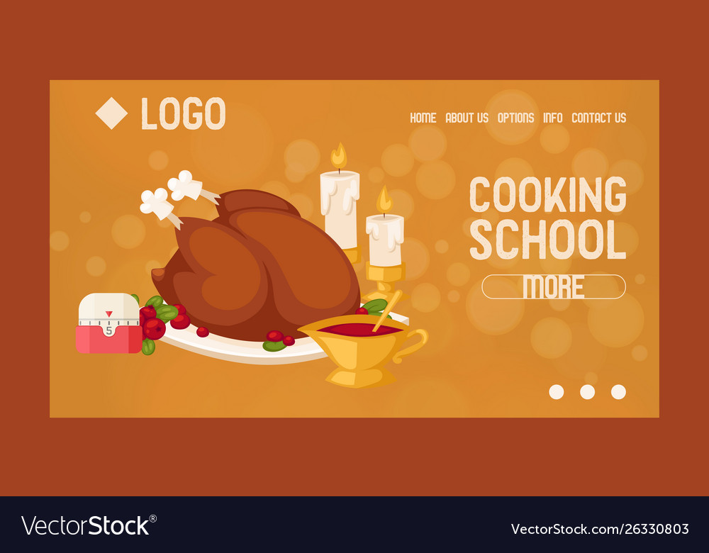 Cooking school courses online website design