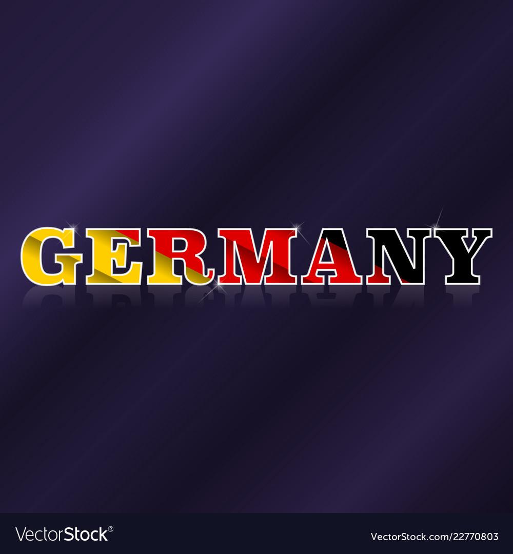 Germany flag symbol