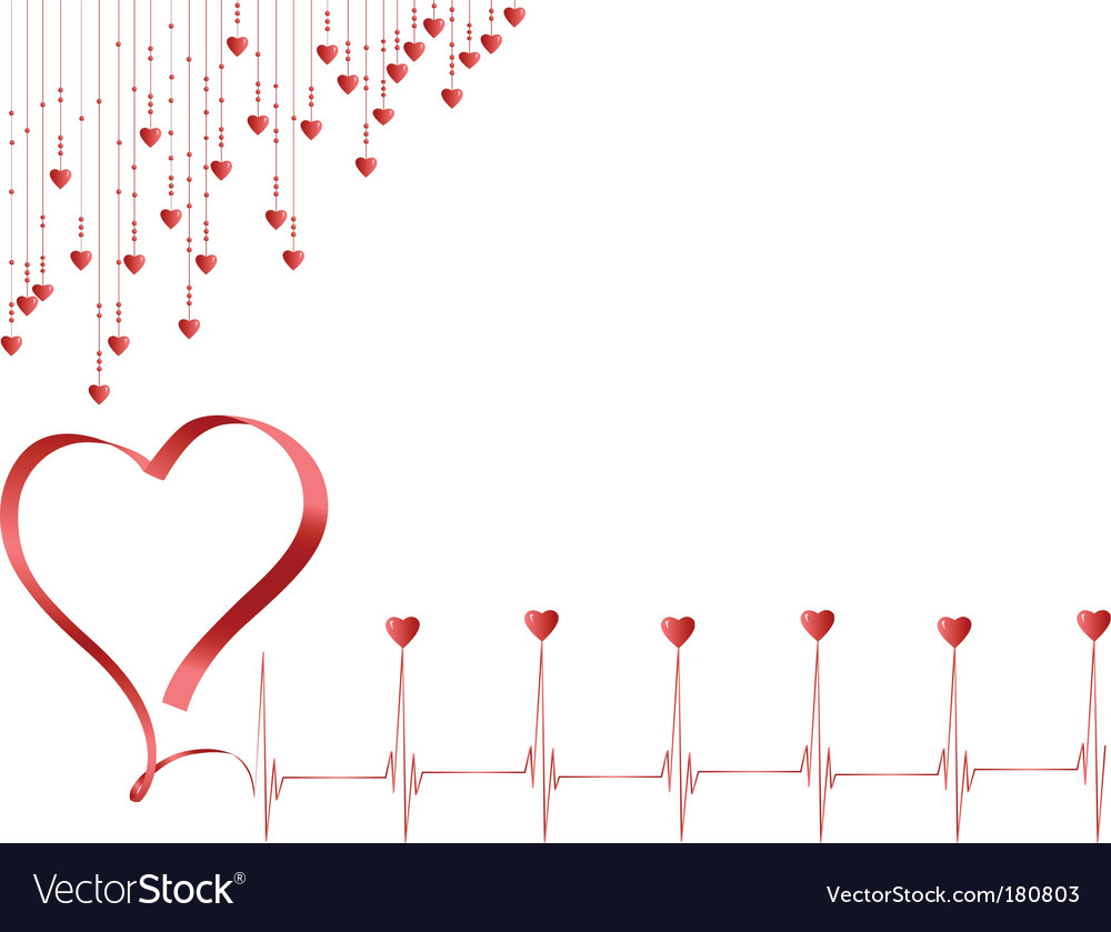 Pulse of love vector image
