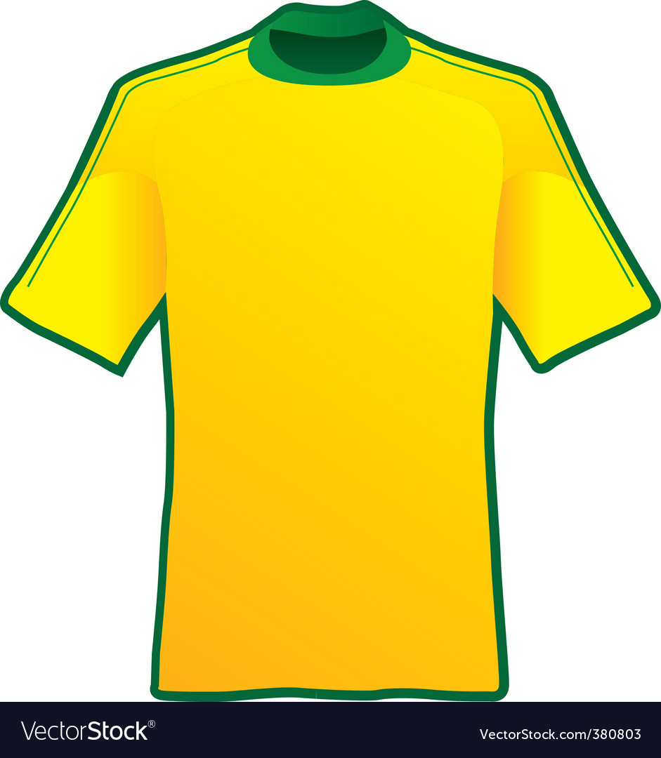 de9cc74a9fb T-shirt of soccer of brazil Royalty Free Vector Image