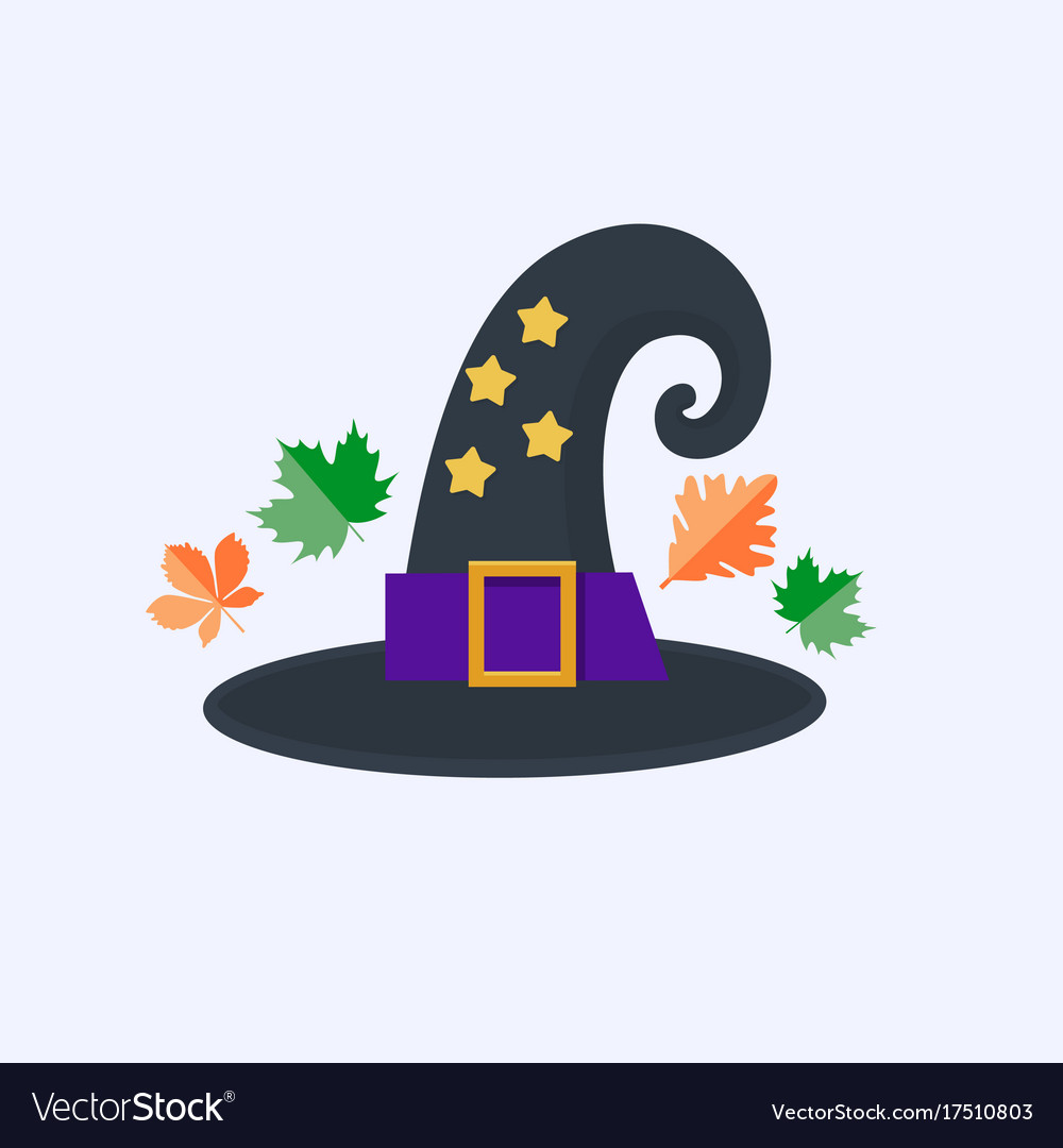Witch hat for halloween isolated on white
