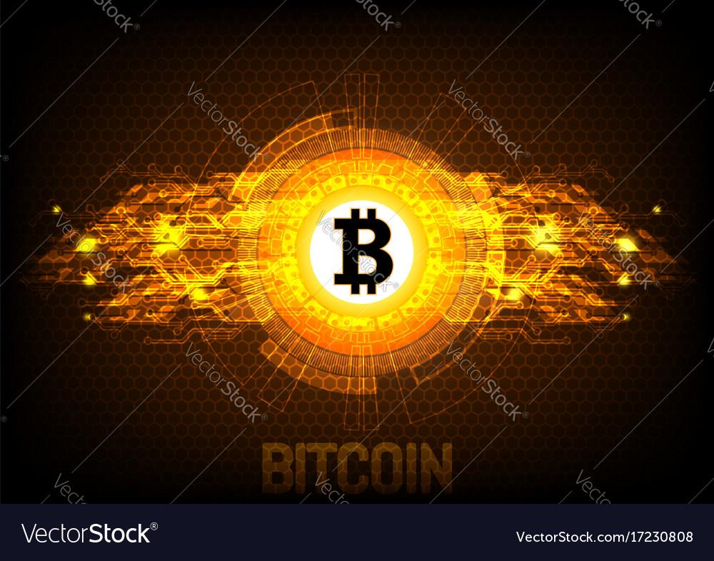 Bitcoin Digital Currency Futuristic Money Vector Image