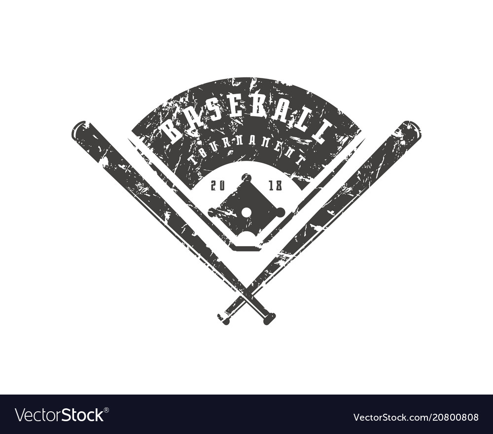 Emblem of baseball tournament