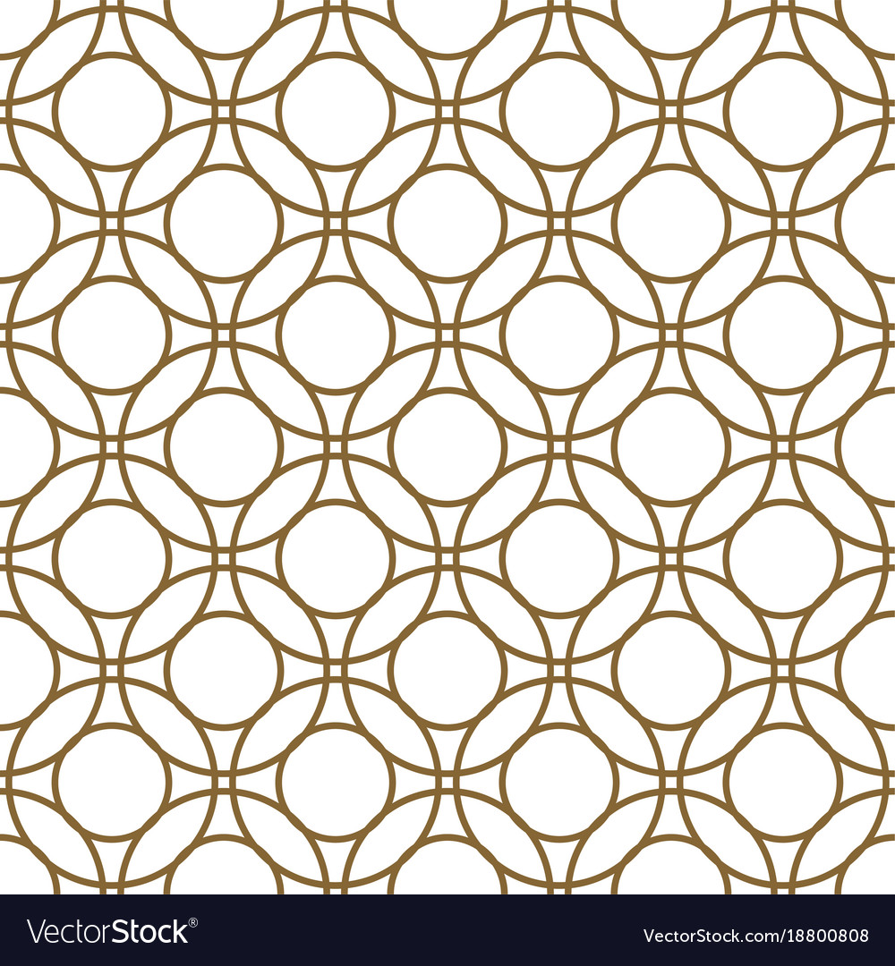 Gold and white overlapping circles seamless