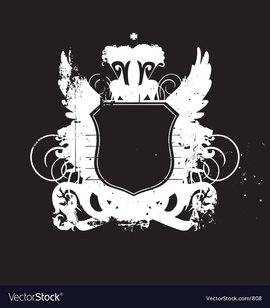 Heraldry shield version 02 grunge