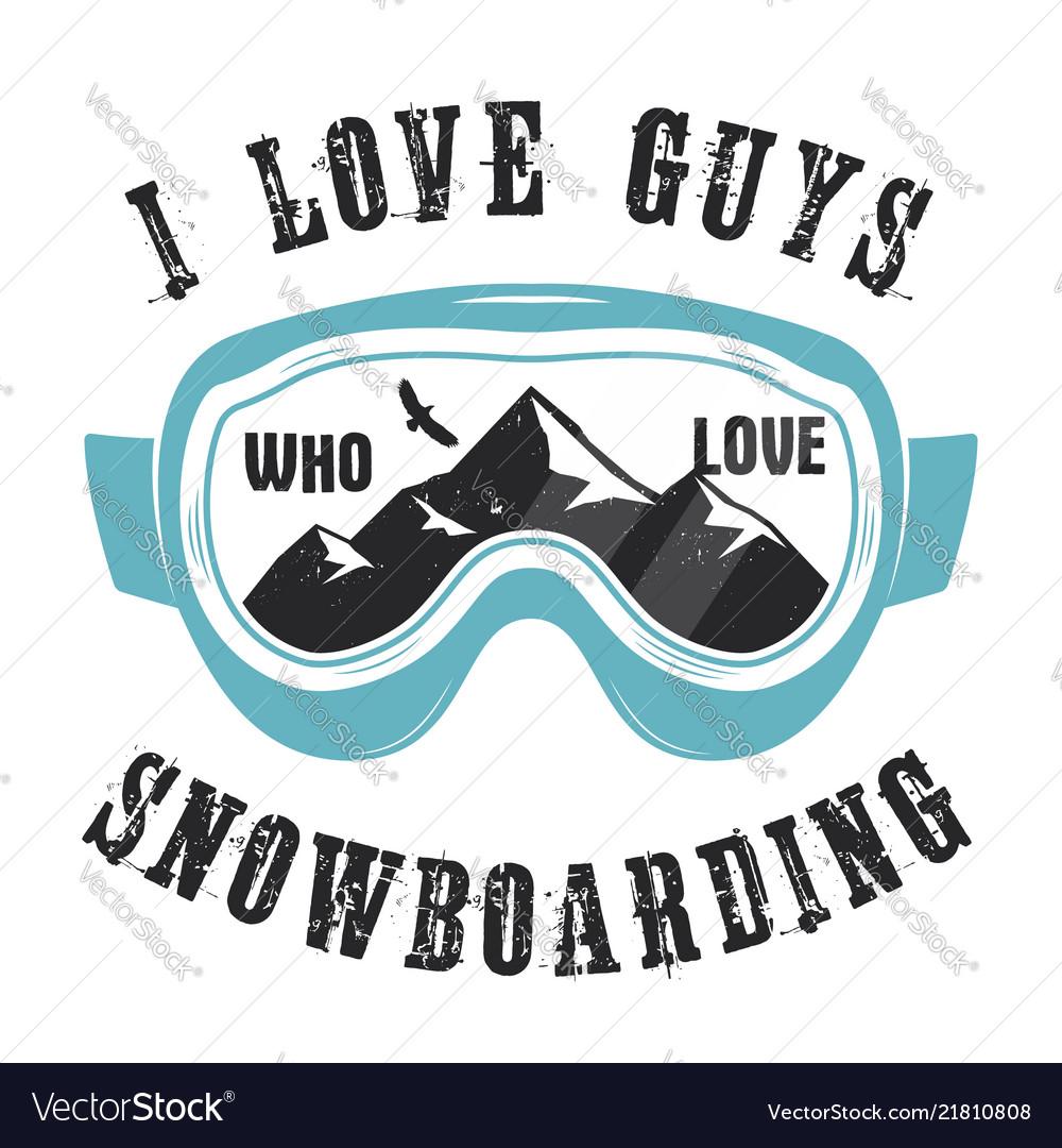 Mountain snowboard logo snowboarder glasses