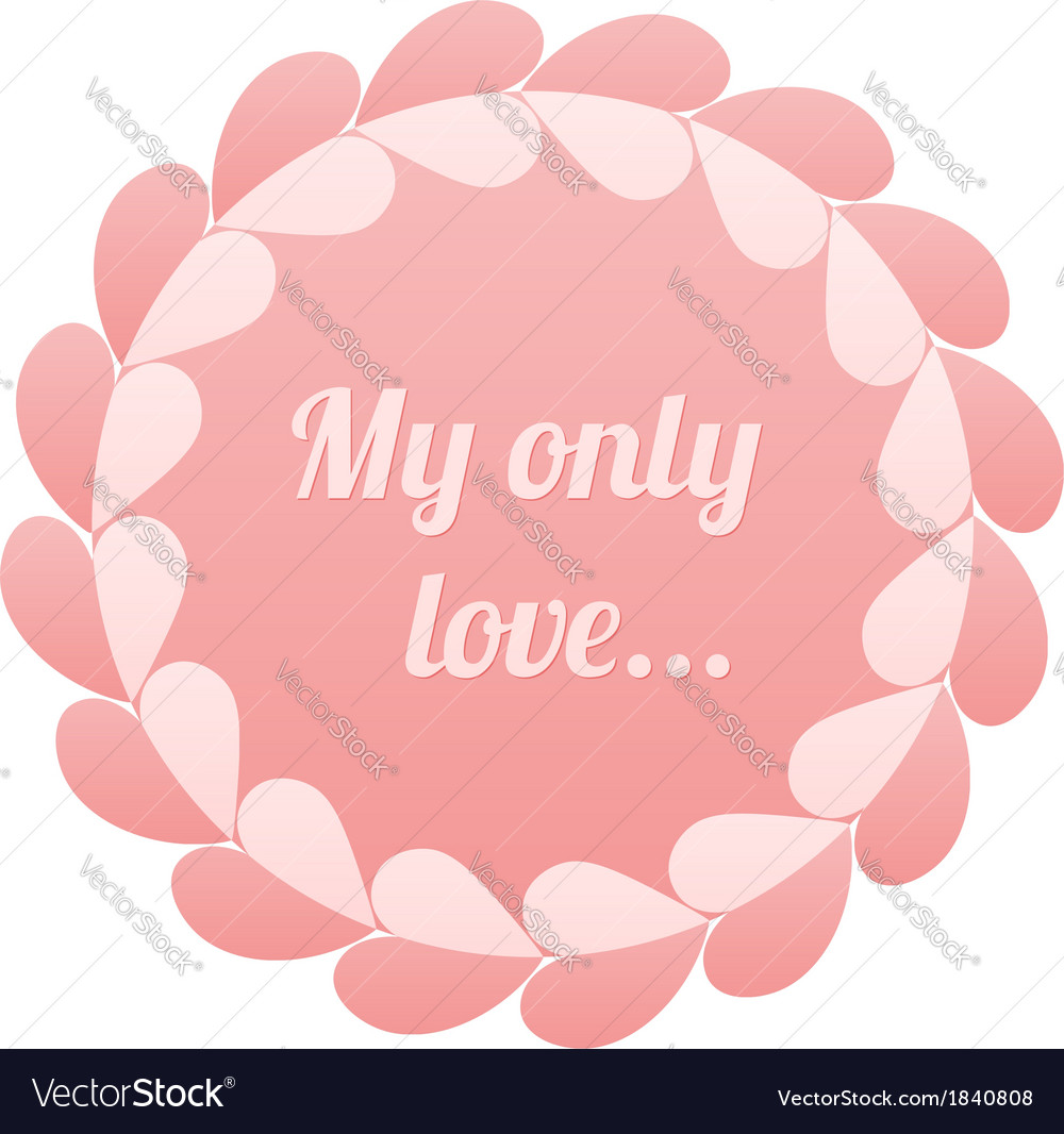 Pink realistic paper hearts circle frame