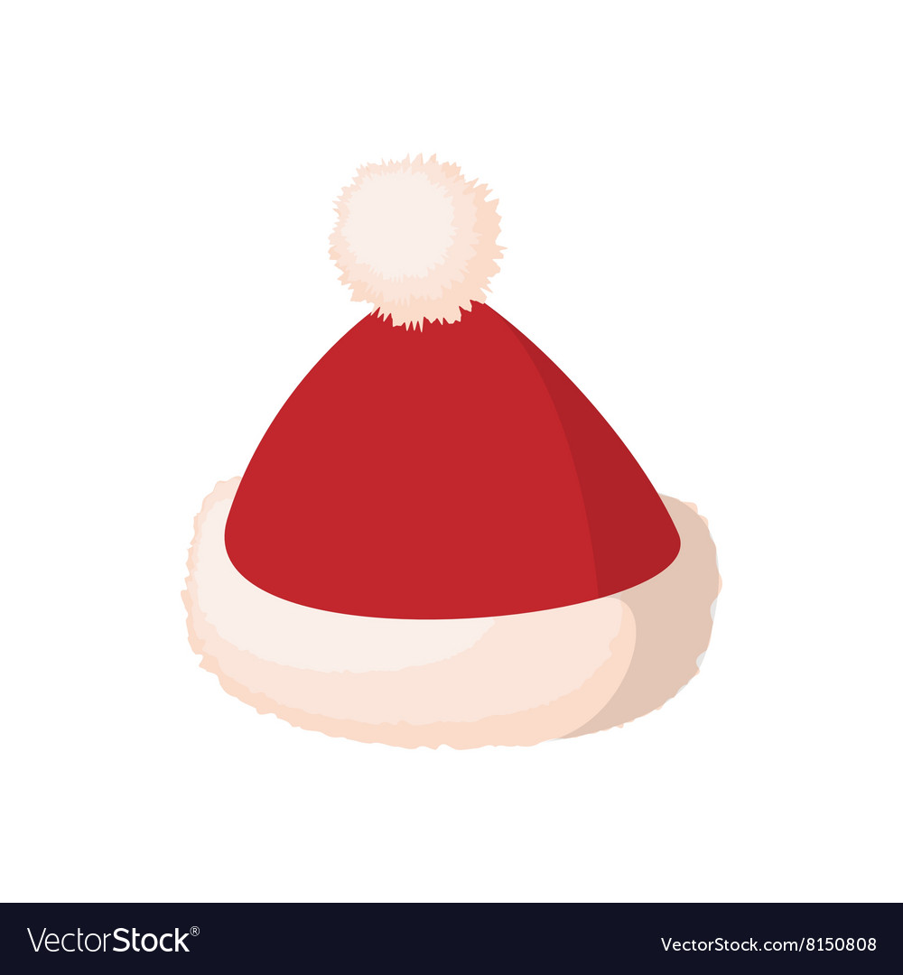 846cbf256e32d Santa cap icon cartoon style Royalty Free Vector Image