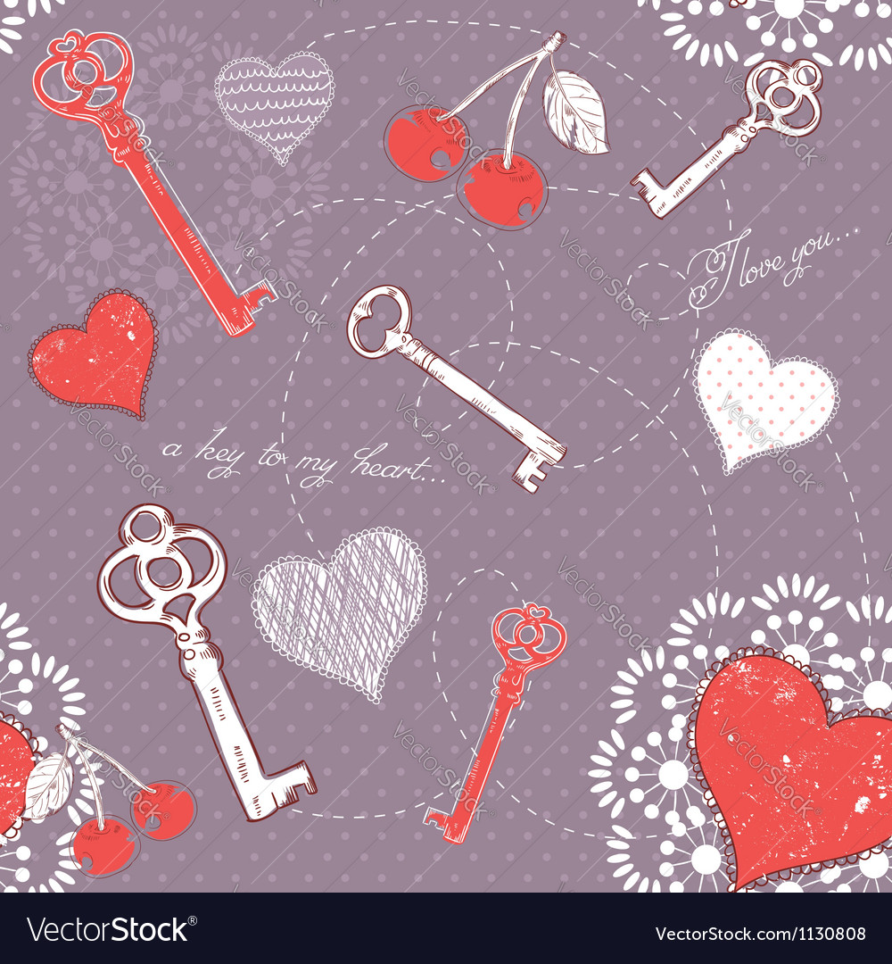 Valentine romantic love seamless pattern