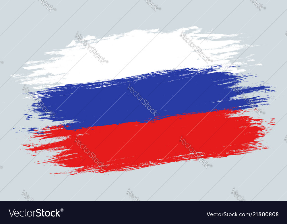 Vintage russian flag