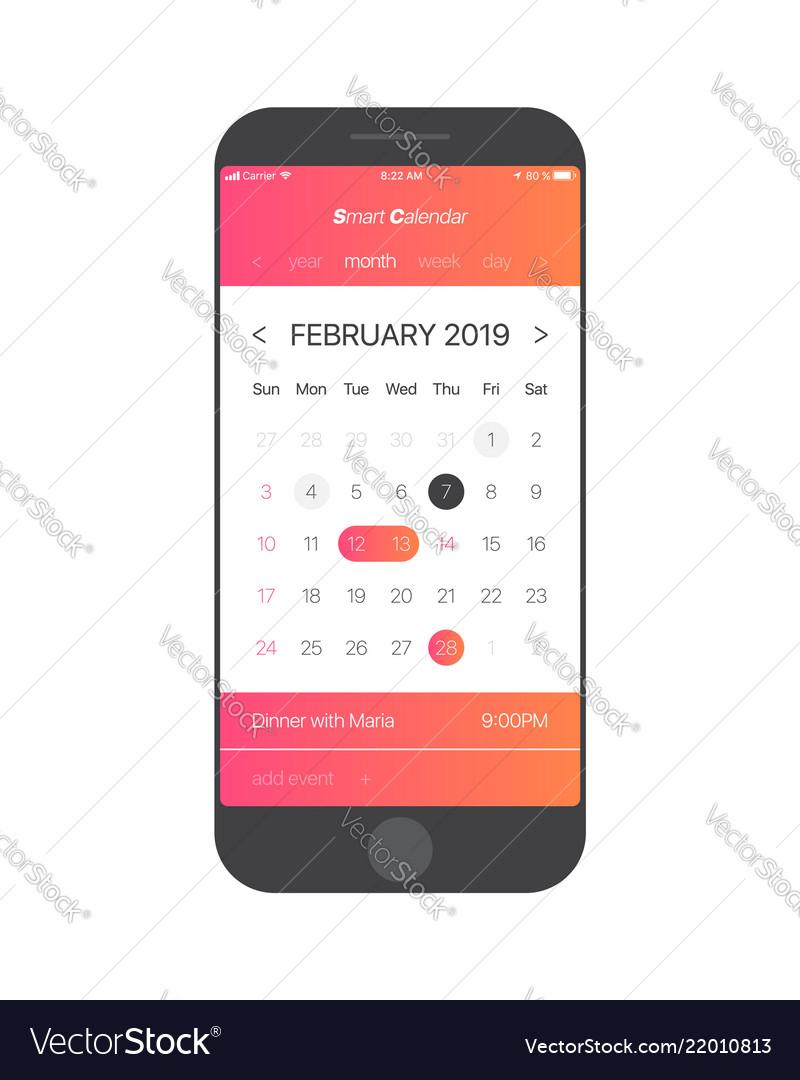 Calendar app ui concept