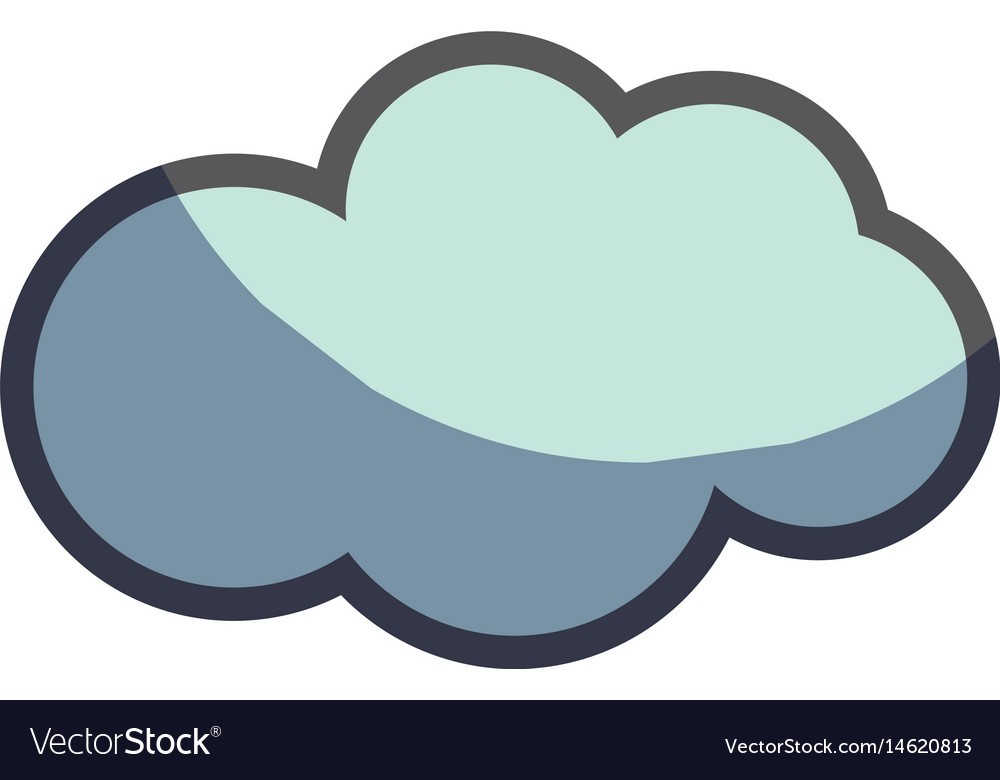 Cute natural cloud weather icon vector image