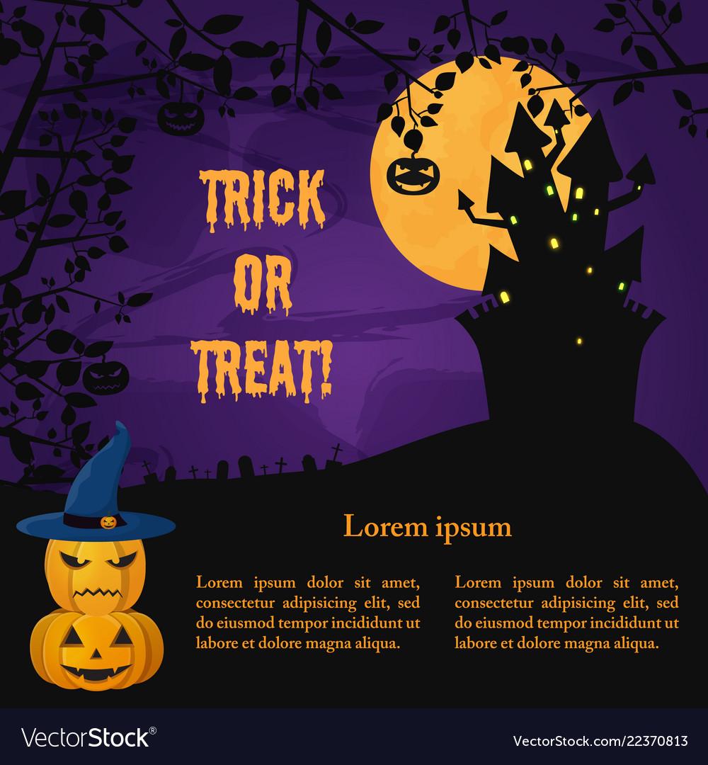 Halloween party dark template