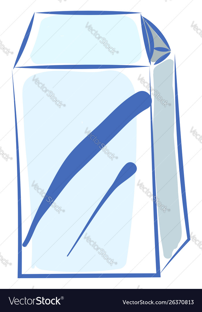 Milk in white package on white background