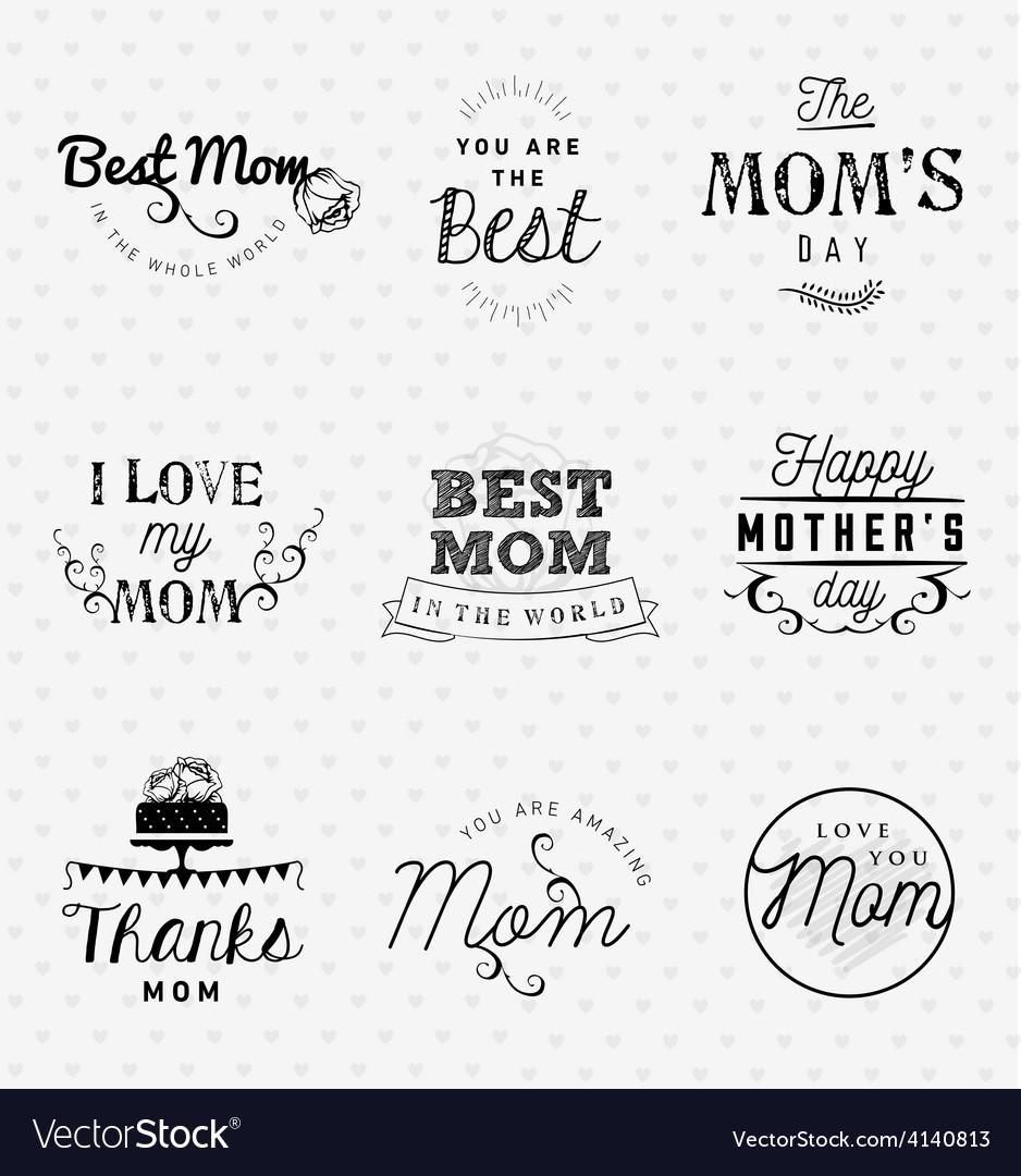 Mom Greeting Card Design Elements