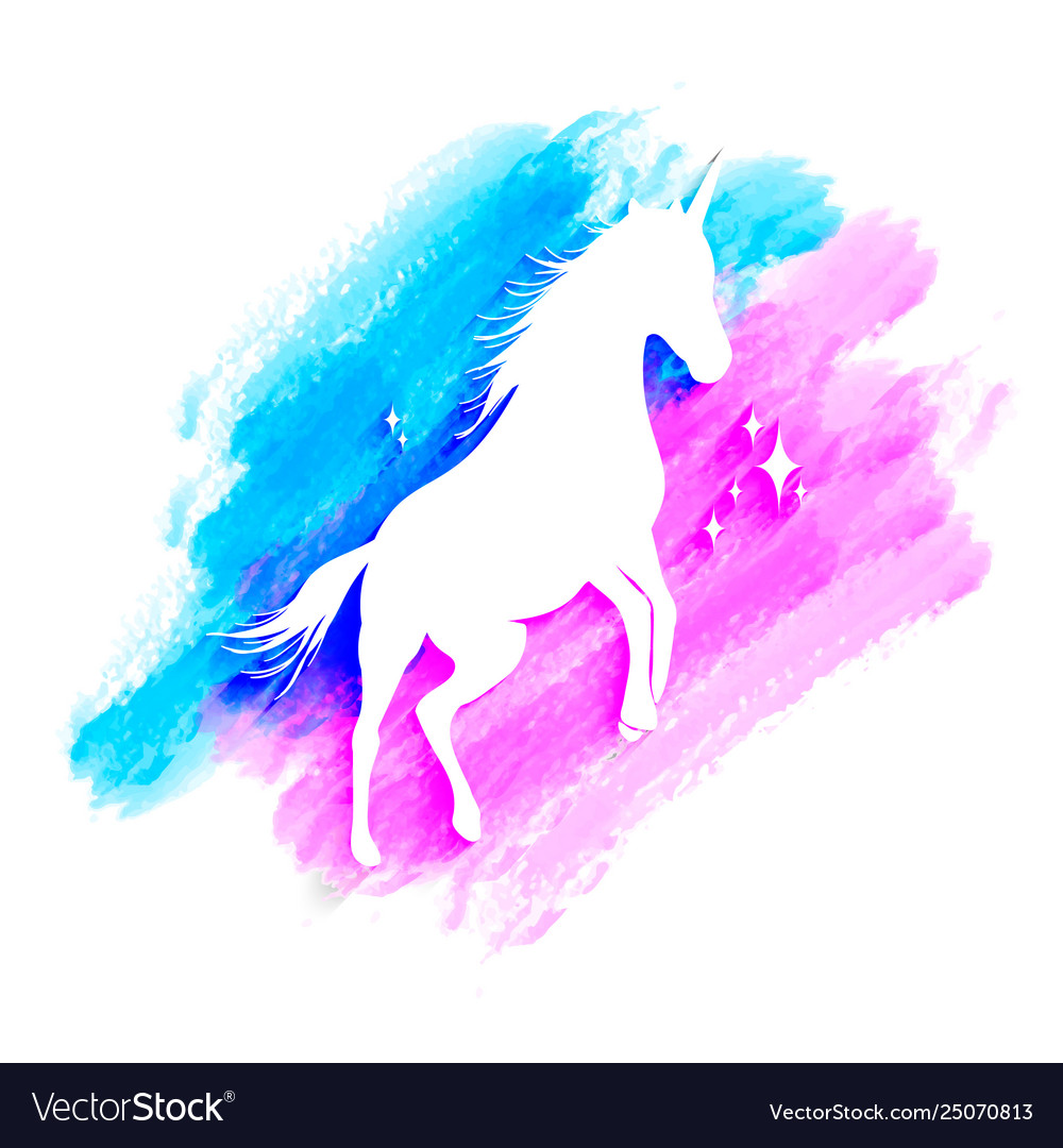 Mythology set unicorn silhouette unicorn with