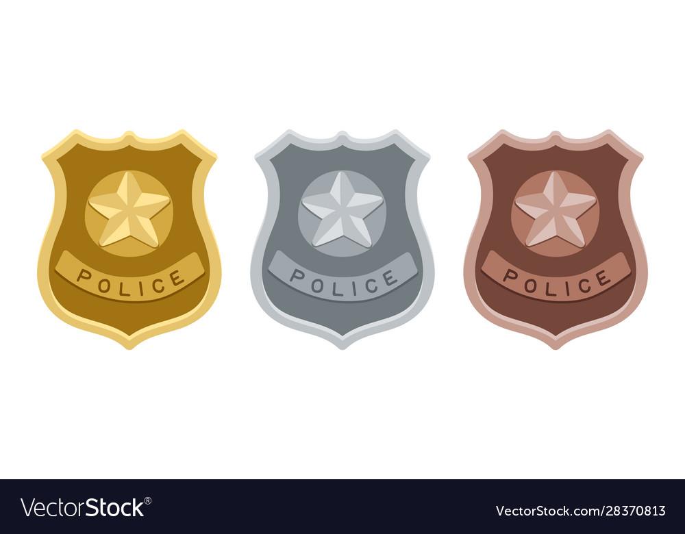 Police badges set