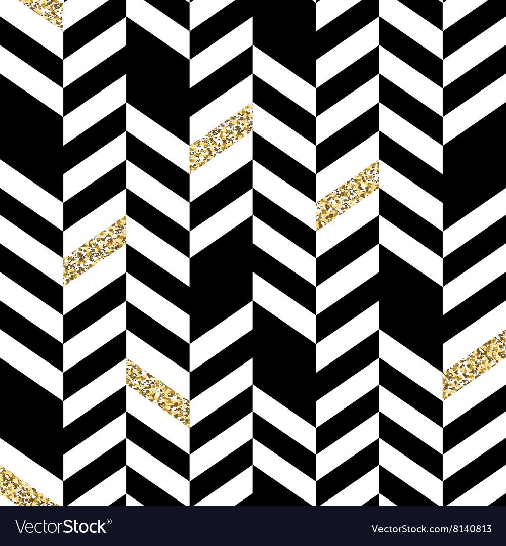 seamless chevron pattern with glittering gold vector image rh vectorstock com chevron pattern vector free chevron pattern vector free