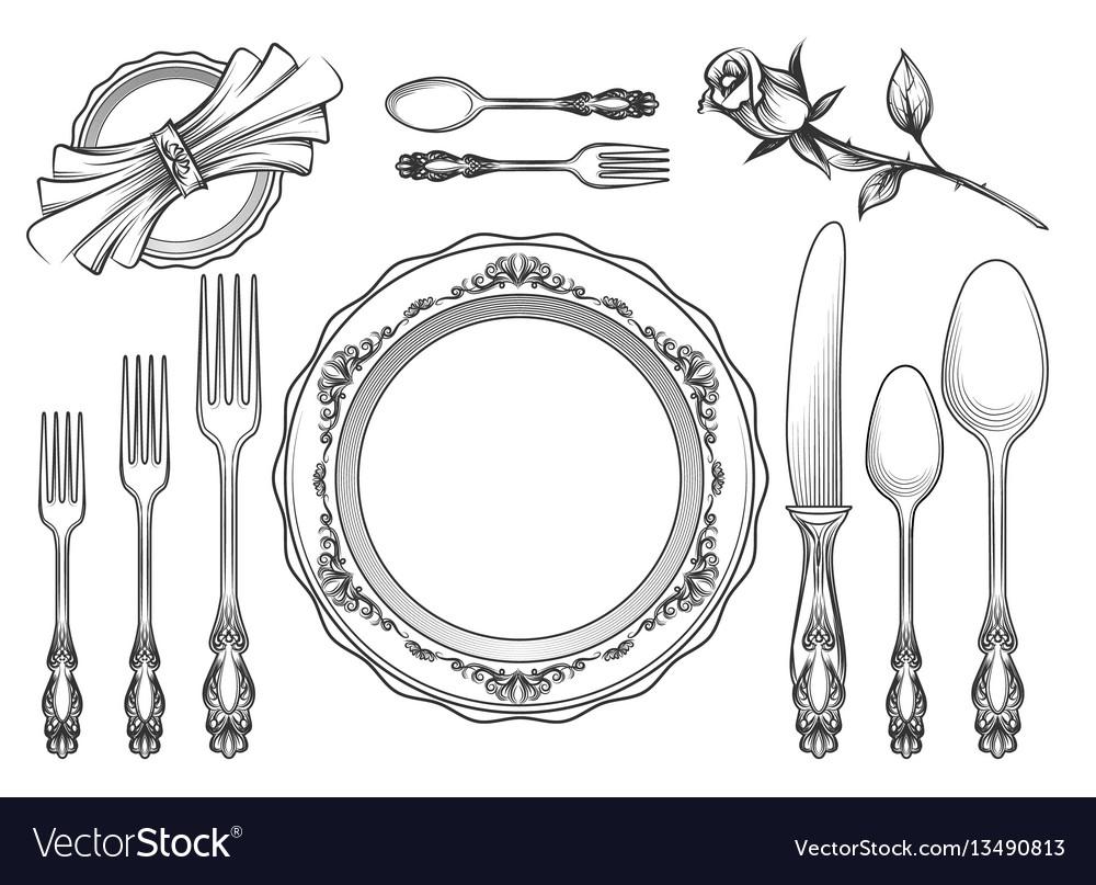 Vintage food service equipment sketch