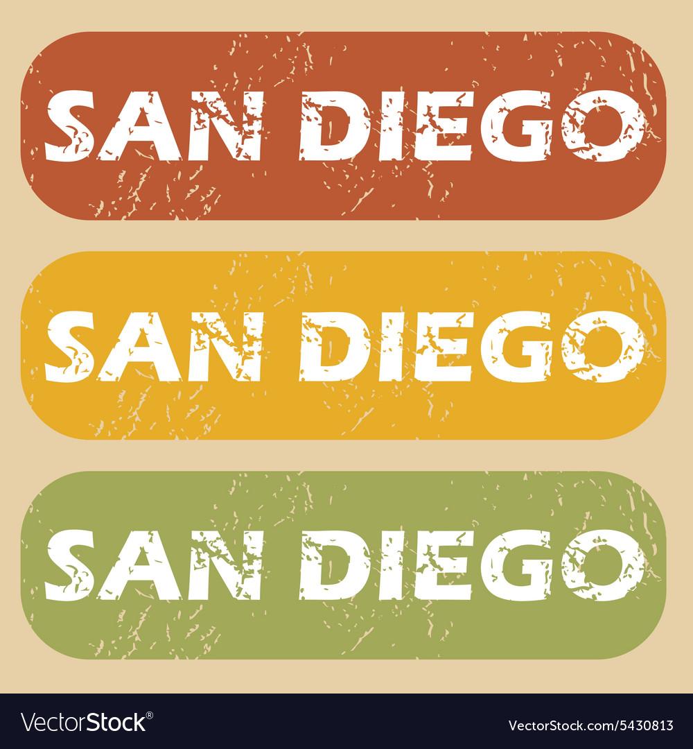 Vintage San Diego stamp set