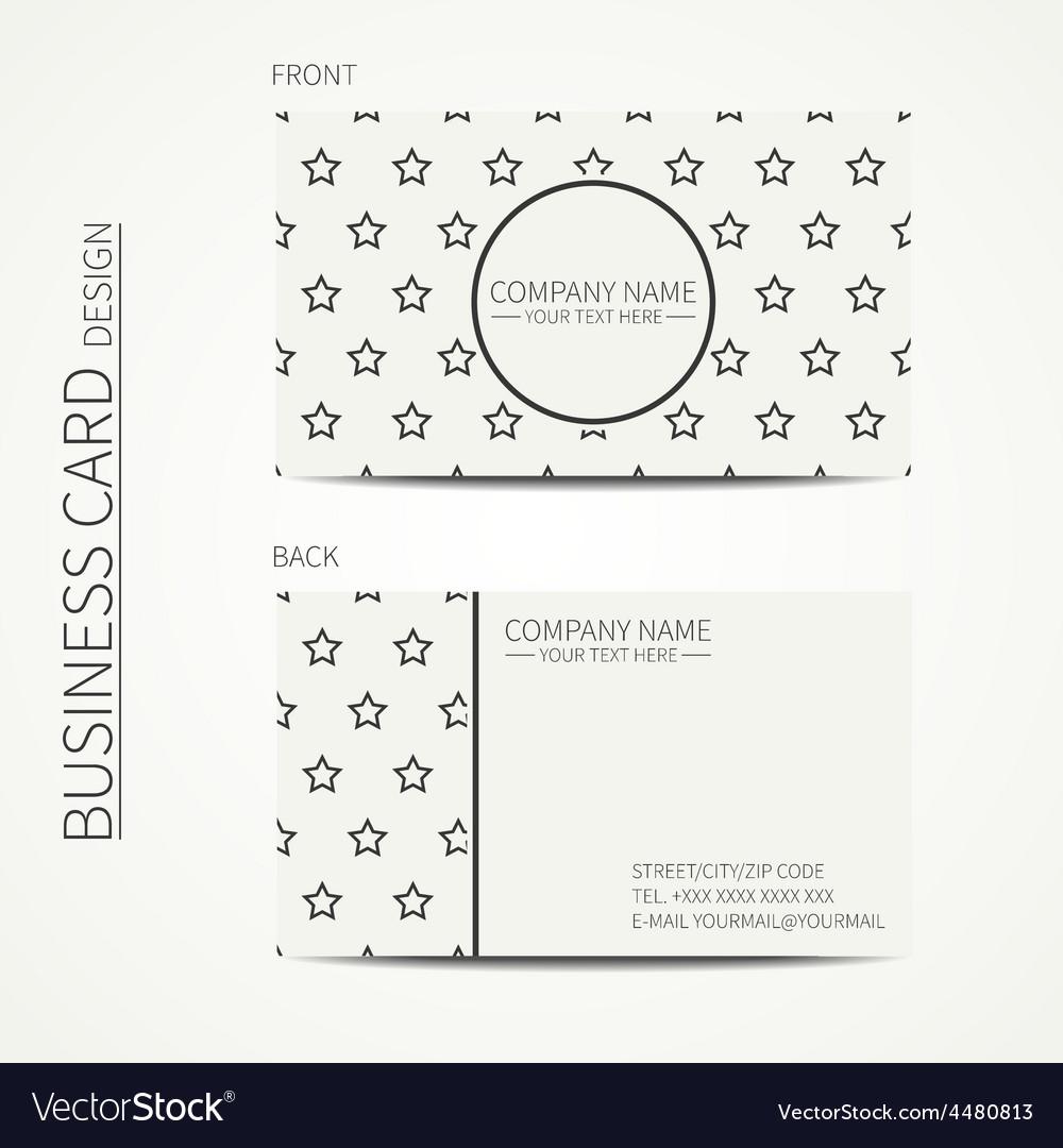 Vintage simple geometric monochrome business card