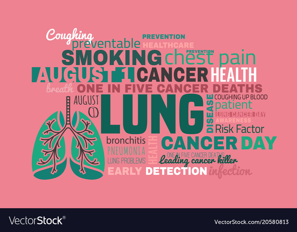 World Lung Cancer Day Royalty Free Vector Image